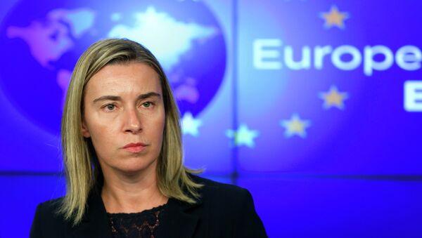 Federica Mogherini, portavoz de la jefa de diplomacia europea - Sputnik Mundo