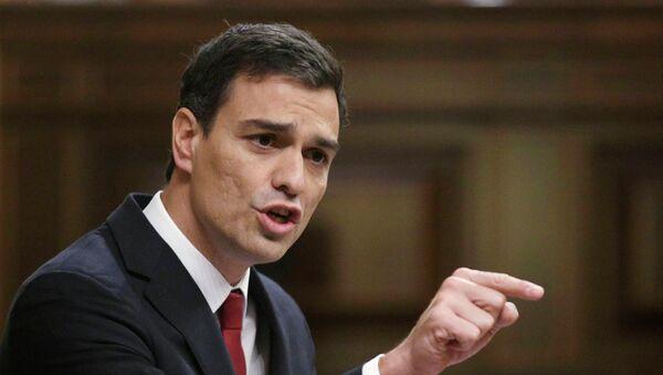 Pedro Sánchez, secretario general del Partido Socialista Obrero Español - Sputnik Mundo