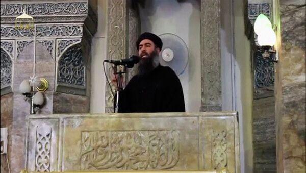 Abu Bakr Bagdadi, líder del grupo terrorista ISIS (archivo) - Sputnik Mundo