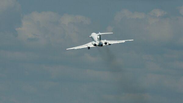 El avión Tu-154M (Archivo) - Sputnik Mundo